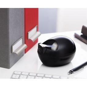 Ragasztószalag-adagoló, asztali, feltöltött, kavics formájú, 3M SCOTCH , fekete