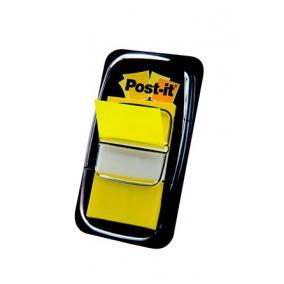 Jelölőcímke, műanyag, 50 lap, 25x43 mm, 3M POSTIT, sárga [50 lap]