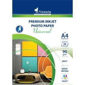 Fotópapír, tintasugaras, A4, 90 g, matt, VICTORIA