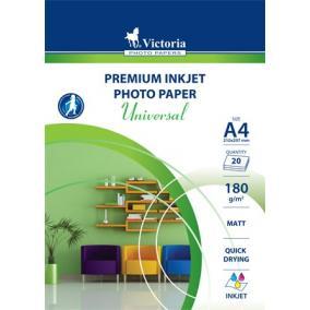 Fotópapír, tintasugaras, A4, 180 g, matt, VICTORIA