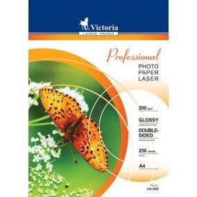 Fotópapír, lézer, A4, 200 g, fényes, kétoldalas, VICTORIA