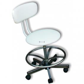 Lábtartó gyűrű csavarorsós labor székekhez (40 mm)