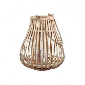 Lámpa fogantyúval rattan O26x29,5 cm natúr