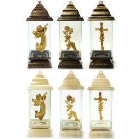 Lámpás mix fém, műanyag 12,5x33x12,5cm szürke/fehér több féle