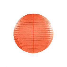 Lampion gömb papír 25cm narancs