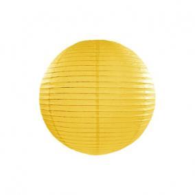 Lampion gömb papír 25cm sárga