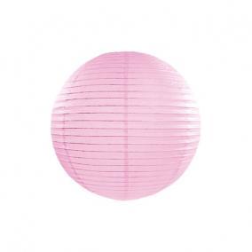 Lampion gömb papír 25cm világos rózsaszín