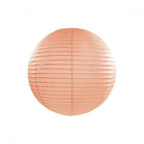 Lampion gömb papír 25cm világosbarna