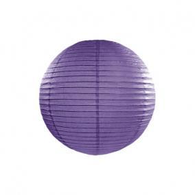 Lampion gömb papír 40cm lila
