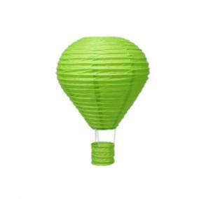 Lampion mécsestartóval papír 25cm zöld