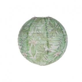 Lampion trópusi mintával papír 40,6cm