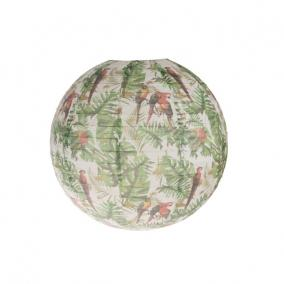 Lampion trópusi mintával papír 50x50x50cm