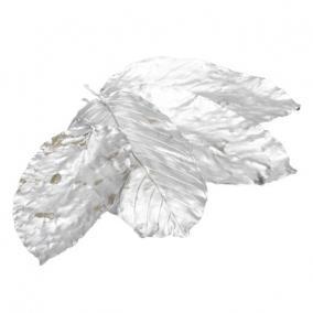 Levél dekor szárított ezüst [21 db]