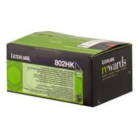 Lexmark [802HK] 80C2HK0 [Bk] 4K toner (eredeti, új)