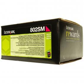 Lexmark [802SM] 80C2SM0 [M] 2K toner (eredeti, új)