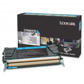 Lexmark [C746,748] C746A1CG [C] 7K toner (eredeti, új)