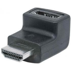 Adapter, HDMI-HDMI, lefelé 90°, MANHATTAN