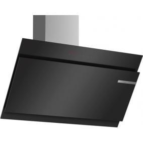 Bosch DWK98JQ60 Kürtős páraelszívó, 90 cm, fekete Döntött üvegernyős, 3-fokozatú + 2 inten