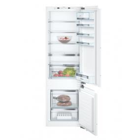 Bosch KIS87AFE0, Beépíthető, alulfagyasztós hűtő-fagyasztó kombináció, 209+61L