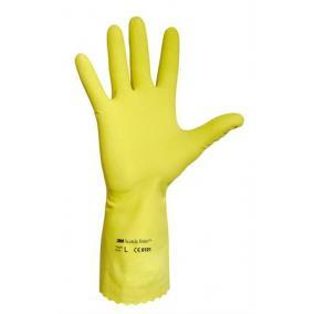 Védőkesztyű, latex, 8-as méret, sárga [10 pár]
