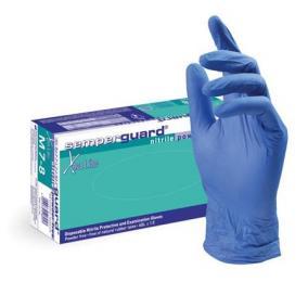 Védőkesztyű, egyszer használatos, nitril, S/7-es méret, 200 db, púder nélküli