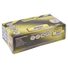 Védőkesztyű, egyszer használatos, latex, L-es méret, 100 db, púderezett