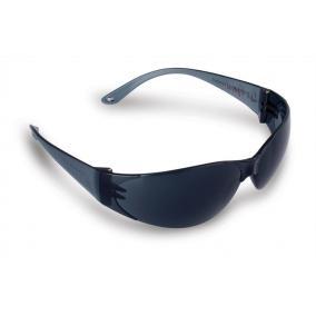 Védőszemüveg, sötét, fényvédő lencsével,