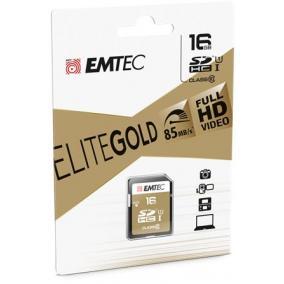 Memóriakártya, SDHC, 16GB, UHS-I/U1, 85/20 MB/s, EMTEC