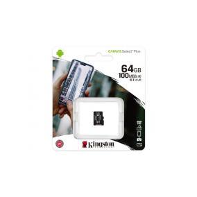 Memóriakártya, microSDXC,64GB, CL10/U1/A1, KINGSTON