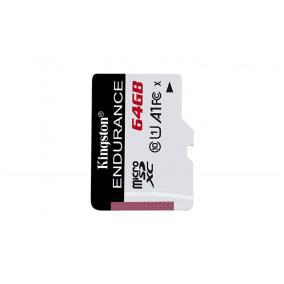Memóriakártya, microSDXC, 64GB, CL10/U1, A1, 95/30 MB/s, KINGSTON