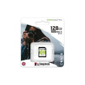 Memóriakártya, SDXC, 128GB, CL10/U1, KINGSTON