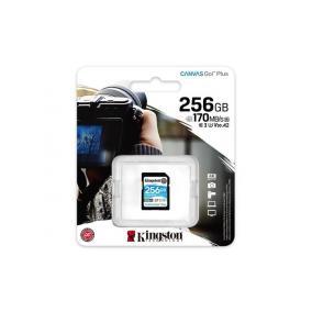 Memóriakártya, SDXC, 256GB, C10/UHS-I/U3/V30/A2, KINGSTON