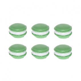 Macaron nagy poly 2,3 cm x 2,5 cm x 0,8cm zöld [6 db]