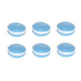 Macaron nagy poly 2,5 cm x 3 cm x 0,8cm kék [6 db]