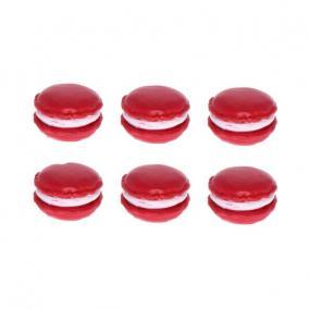 Macaron nagy poly 3 cm x 1,8 cm x 2cm magenta [6 db]