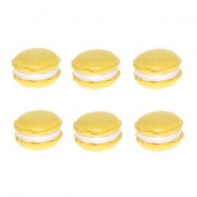 Macaron nagy poly 3 cm x 1,8 cm x 6cm sárga [6 db]