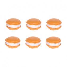 Macaron nagy poly 3 cm x4,5 cm x 0,5cm narancs [6 db]