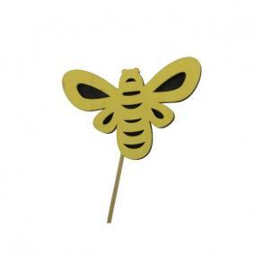 Méhecske betűzős fa 10cm sárga [5 db]