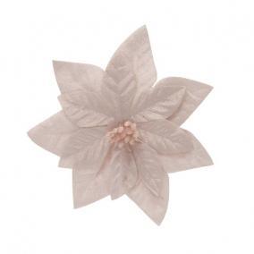 Mikulásvirág csipeszes textil 16 cm rózsaszín