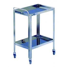 Műszerasztal rozsdamentes acél 70x80x50cm 2 polcos