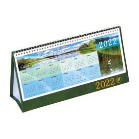 Naptár, asztali, álló, CSÍZIÓ, zöld - 2022