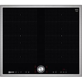NEFF T56BT60N0 Flex Induction indukciós főzőlap, 60 cm, Nemesacél keret, 2 autom. Flex zóna 7,4kW