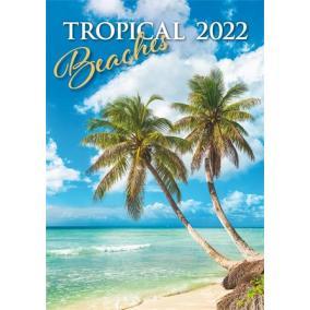 Naptár, fali, DAYLINER, Tropical beaches