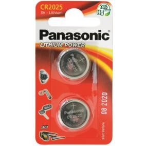 Gombelem, CR2025, 2 db, PANASONIC [2 db]