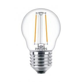 LED izzó, E27, kis gömb, P45, 2W, 250lm, 2700K, PHILIPS