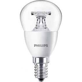 LED izzó, E14, kis gömb, P45, 5.5W, 520lm, 4000K, PHILIPS