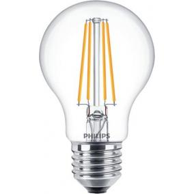 LED izzó, E27, gömb, A60, 8W, 806lm, 2700K, PHILIPS