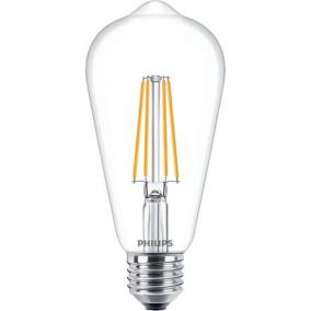 LED izzó, E27, gömb, ST64, 7W, 806lm, 2700K, PHILIPS