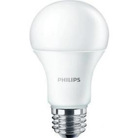 LED izzó, E27, gömb, 10W, 1055lm, 230V, 4000K, A60, PHILIPS