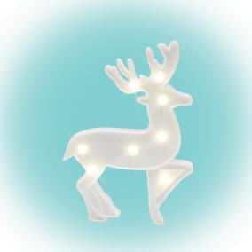 LED-es dekoráció, rénszarvas 25cm